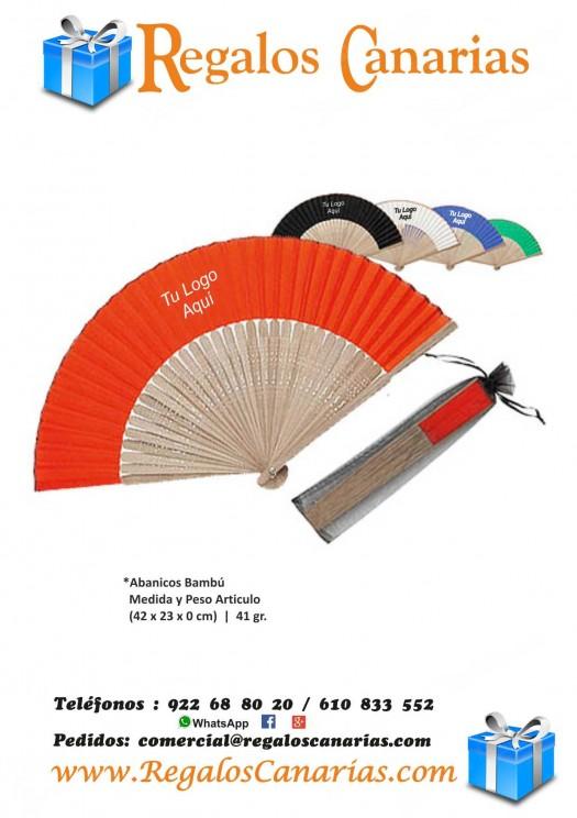 abanicos, bambú, personalizados, regalos, merchandising, publicidad, marketing, tenerife,canarias