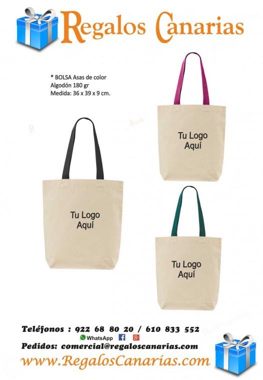 bolsas, asas, colores, personalizadas, regalos, merchandising, publicidad, marketing, tenerife,canarias