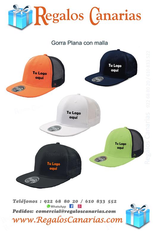gorra plana, canarias,merchandising,regalos,publicidad,personalizados