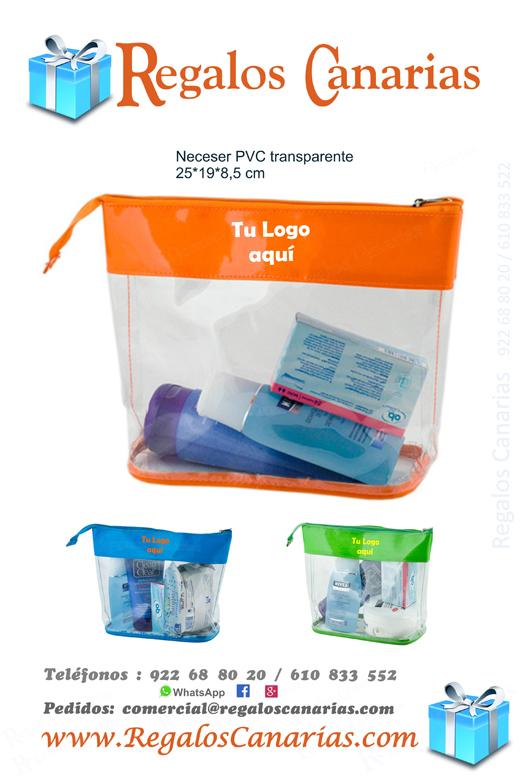 Neceser, PVC, regalos,canarias,tenerife,merchandising,personalizados
