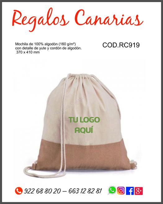 regalos, detalles, merchandising, marketing, eventos, fiestas, publicidad, personalizados, canarias, bolsa, mochila,, tenerife,canaria, reutilizable, ecológico